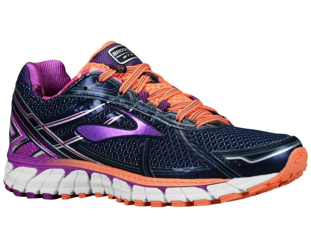 Brooks Adrenaline GTS 15 Laufschuhe - Damen - Peacoat/lila Cactus Flower/Fresh  Salmon