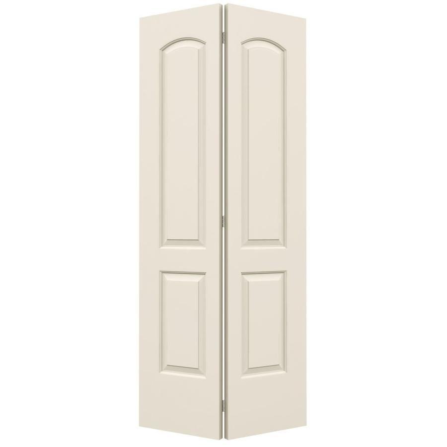 Jeld wen panel round top bi fold closet interior also in  santa fe primed smooth molded composite mdf rh pinterest