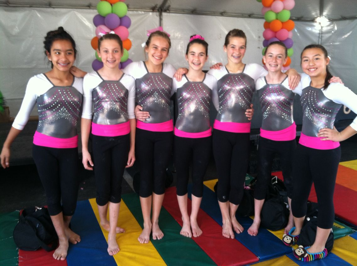 California Gymnastics in their new competition leo and warm ups! | gymnastics | k-Bee Leotards
