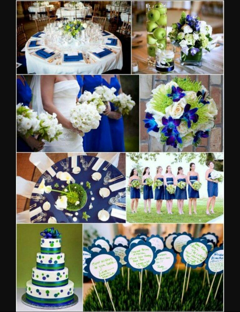 Royal Blue And Green Wedding Colour Themes
