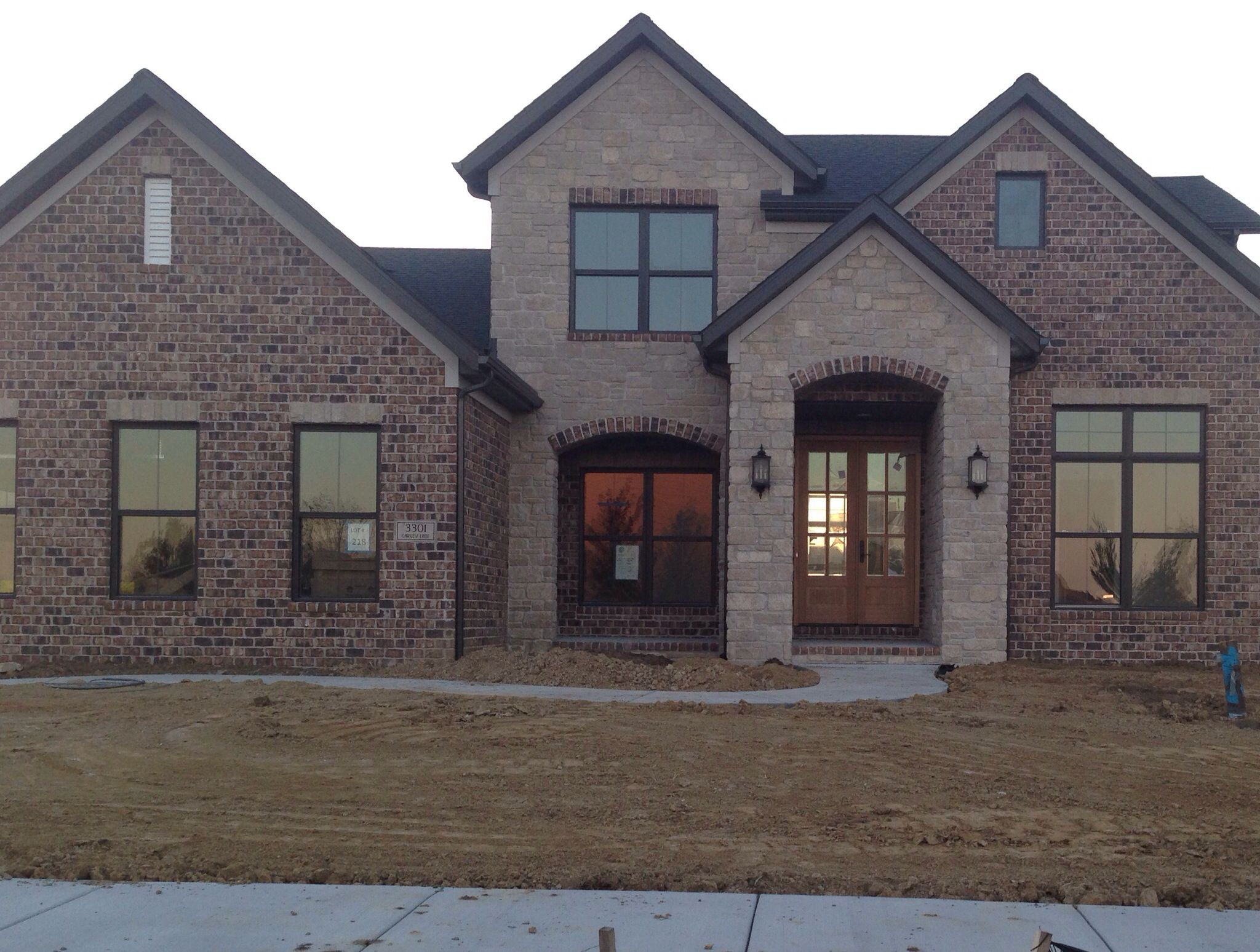 Brick Color W Black Windows And Soffit House Exterior Exterior House Colors House