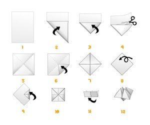cocotte en papier ou sablier cr ations cocotte en papier papier et origami. Black Bedroom Furniture Sets. Home Design Ideas