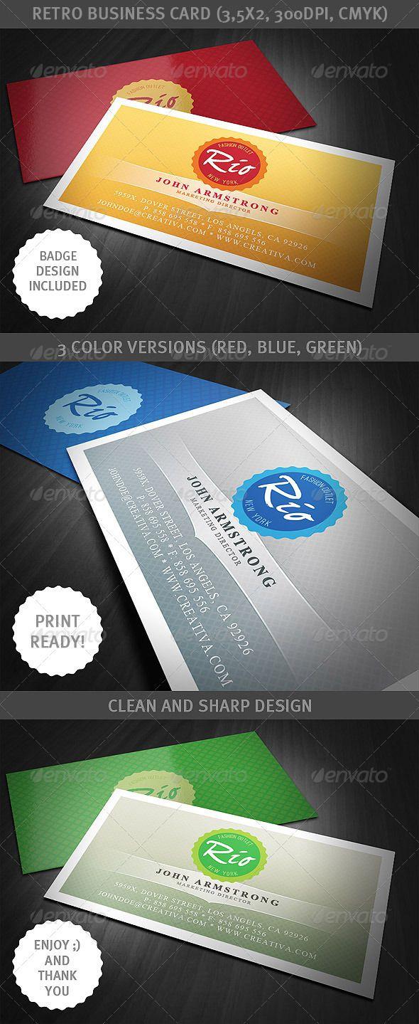 Retro Business Card Retro Business Card Cool Business Cards Unique Business Cards