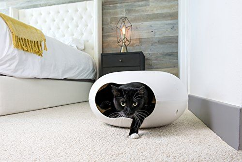 Cat Bed Cave Unique Design Cozy Pod Comes with Plush Washable Cushion Perfect for Small Pets and Kittens Comfortable Cat Furniture that you and Your Pet will Enjoy *** More info could be found at the image url.Note:It is affiliate link to Amazon.