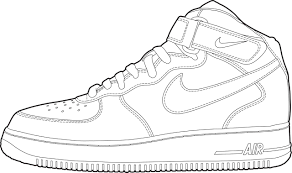 new concept 701d6 01bd4 Nike Air Force One Mid - drawing by O Abnormal Mid AF1 Footwear Templates  in 2018 Pinterest Drawings, Shoes .