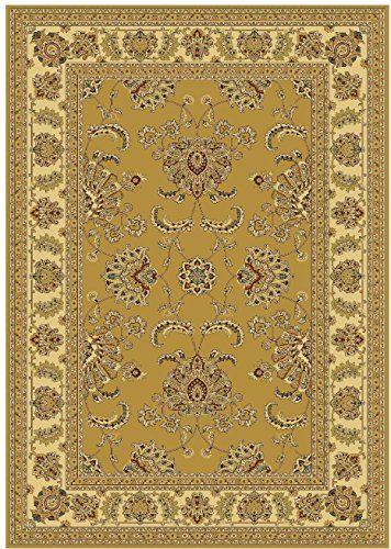 Silk Luxury Gold 8x11 Area Rug Beige Floor Rugs Dining Room Traditional 8 X