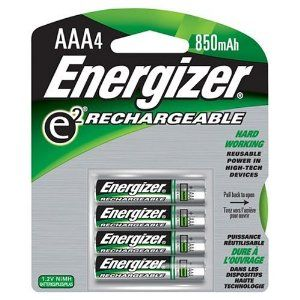 Energizer Rechargeable Aaa Batteries 4 Pk Would Prefer To Have The Charger As Well Typical Pack Of 4 Can Be Purch Energizer Battery Energizer Nimh Battery