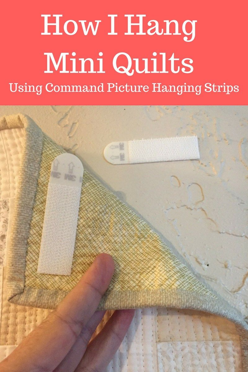 How I Hang Mini Quilts Jelly Rolls Pinte