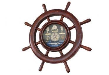 "Wooden Ship Wheel Knot Clock 20"""
