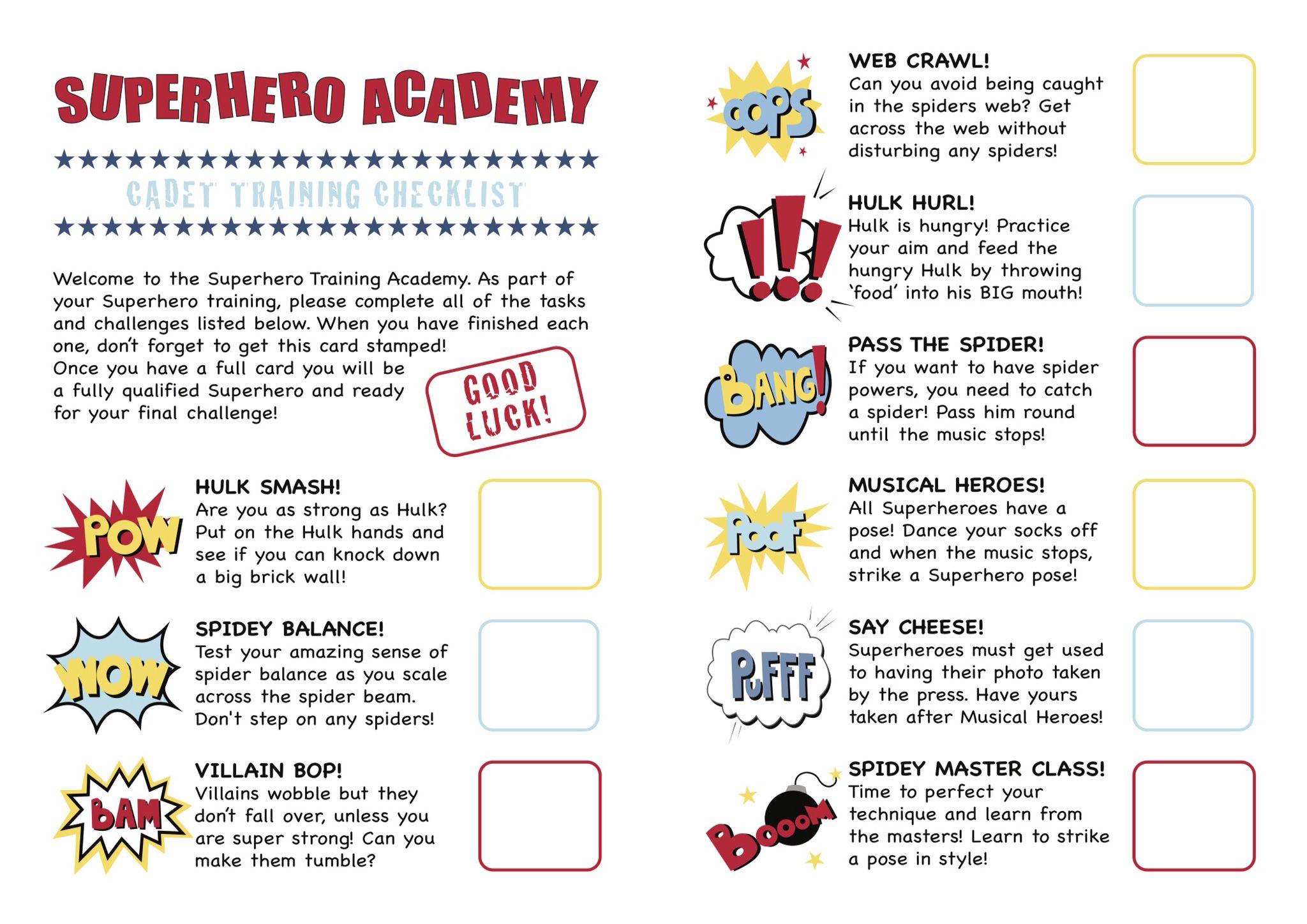 Superhero Training Academy In