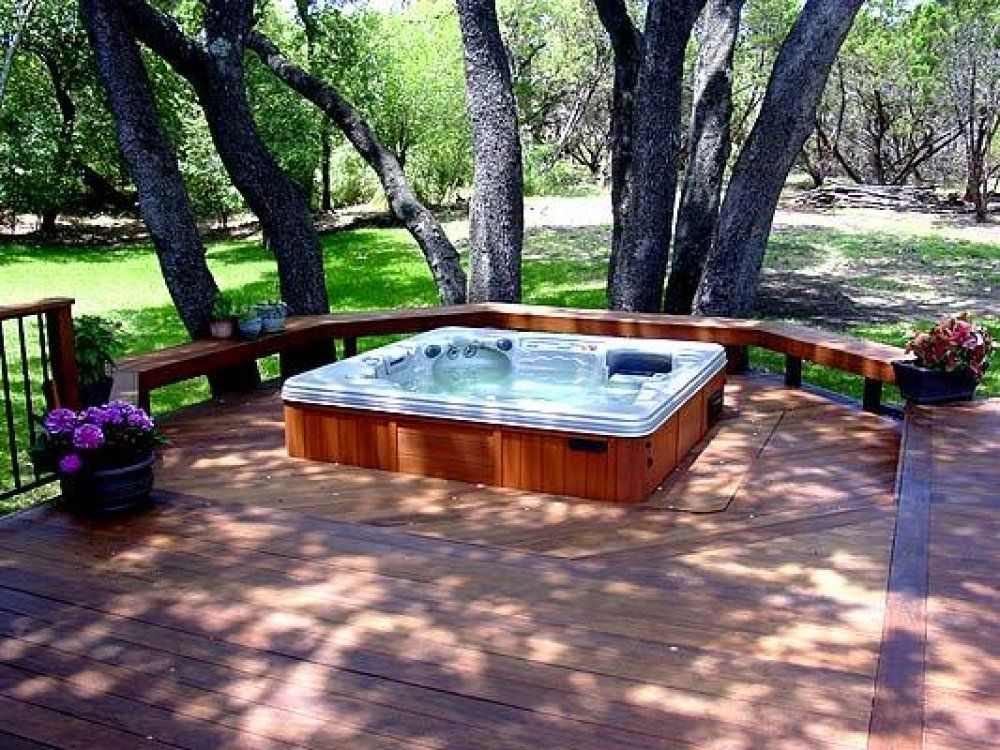 Image result for sunken hot tub and pergola | Hot tubs | Pinterest ...