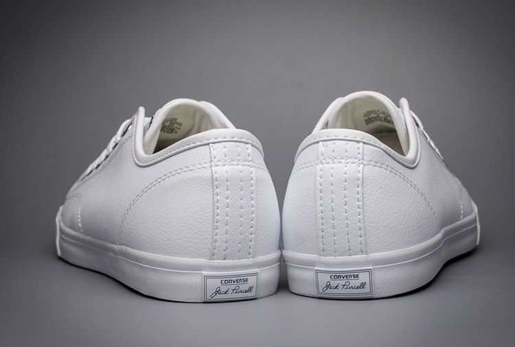 c336fee628f3 Classic Converse Jack Purcell II Signature White Leather Low Shoes  converse   shoes