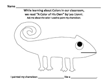 A Color Of His Own By Leo Lionni Chameleon Painting Activity Leo Lionni Painting Activities Childrens Activities