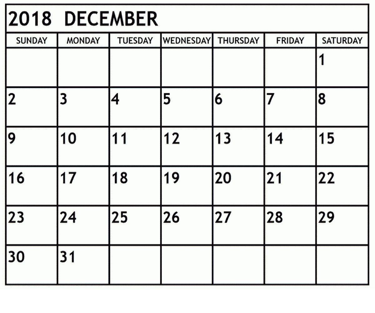Free Printable Calendar December 2018 Headers With Notes June
