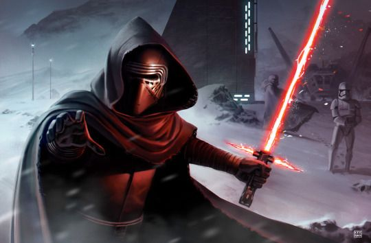 Kylo Ren & The Hunting Party by Dave Keenan