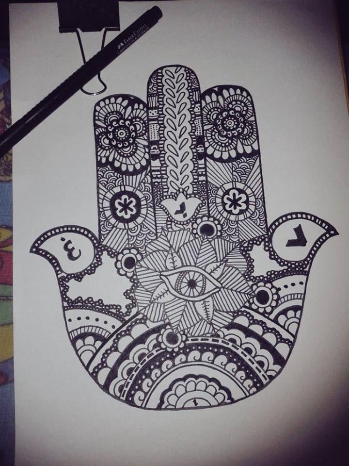 Mano de Fatima o Mano de Dios  Dibujos  Pinterest  Zentangles