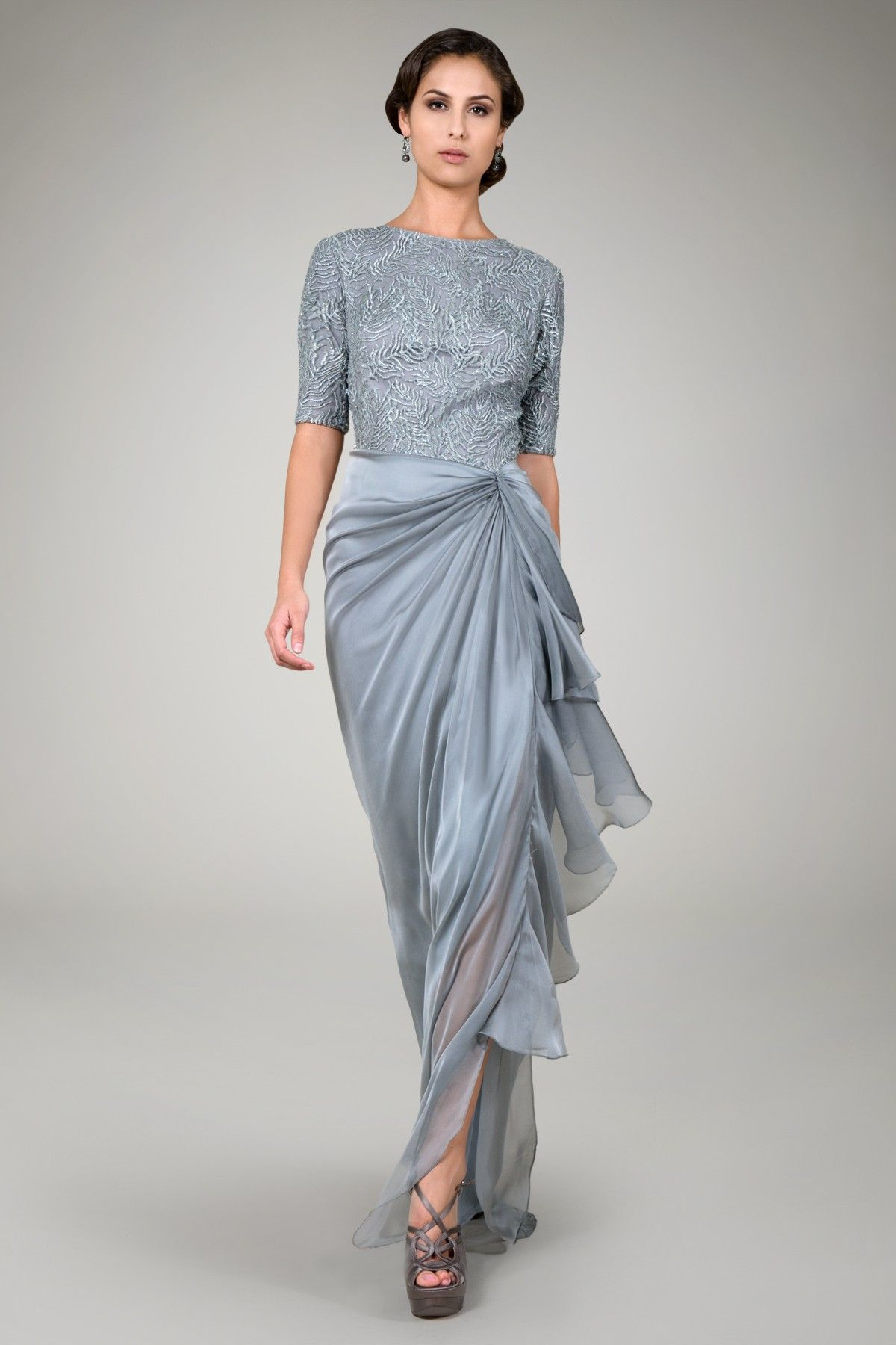 Beaded iridescent chiffon gown in opal grey evening gowns beaded iridescent chiffon gown in opal grey evening gowns evening shop tadashi shoji ombrellifo Images