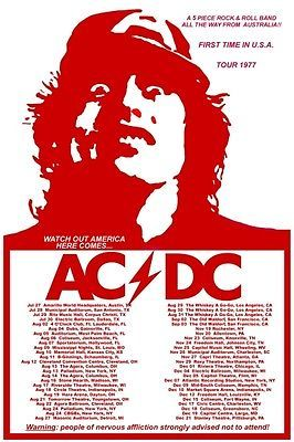 acdc concert posters - Google Search