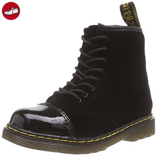 Dr. Martens BUNNY Ze You Velvet BLACK, Unisex-Kinder Bootsschuhe, Schwarz (Black), 22 EU (5.5 Kinder UK) (*Partner-Link)