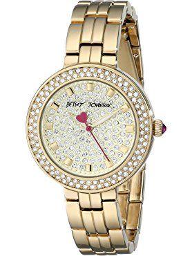 fc75fb235a67 Betsey Johnson Women s BJ00429-02 Analog Display Quartz Gold Watch ❤ Betsey  Johnson