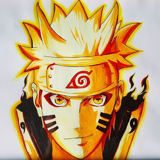 Naruto's Six Paths Sage Mode! #naruto #drawing