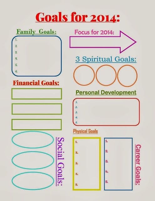 Pin By Kendall Eisenberg On New Years Goals Goal Board Printables