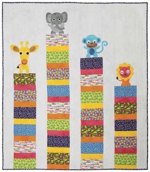 Jungle Babies Quilt Kit | Keepsake Quilting | I can SeW...but just ... : baby quilting kits - Adamdwight.com