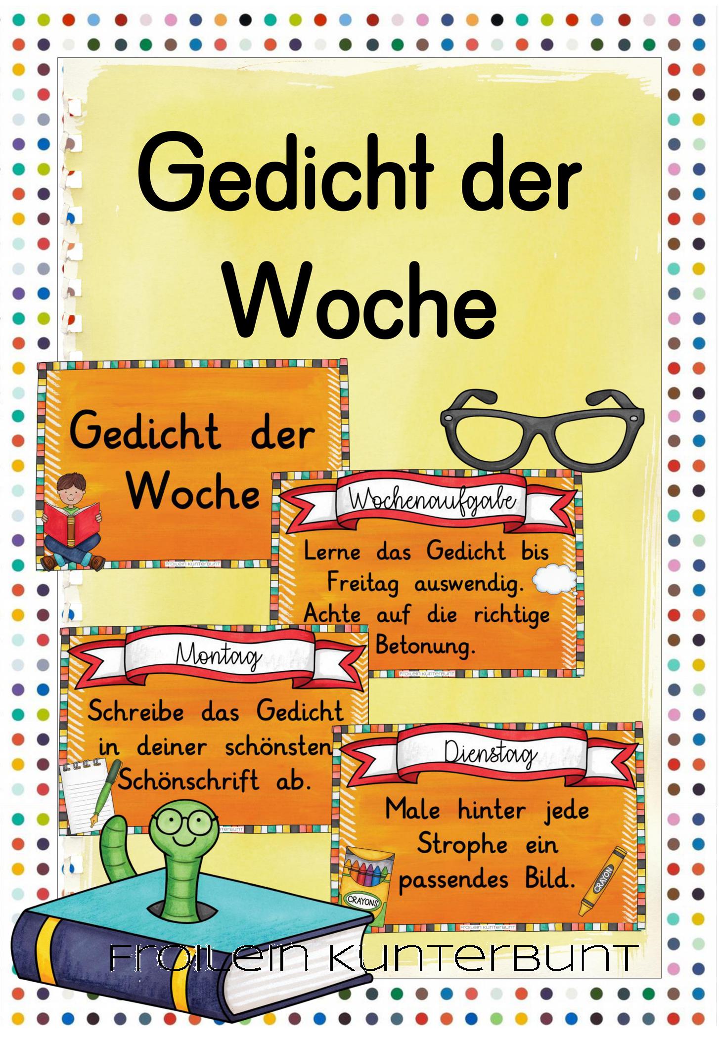 Gedicht der WocheDas Gedicht der Woche ist eine super Möglichkeit um Kindern das Kennenlern Gedicht der Woche