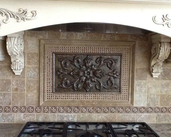 Excellent Sanoma Tiles Backsplash: The Cumbria Medallion By Sonoma Tile  Crushed Glass Decoratives Carved Metal