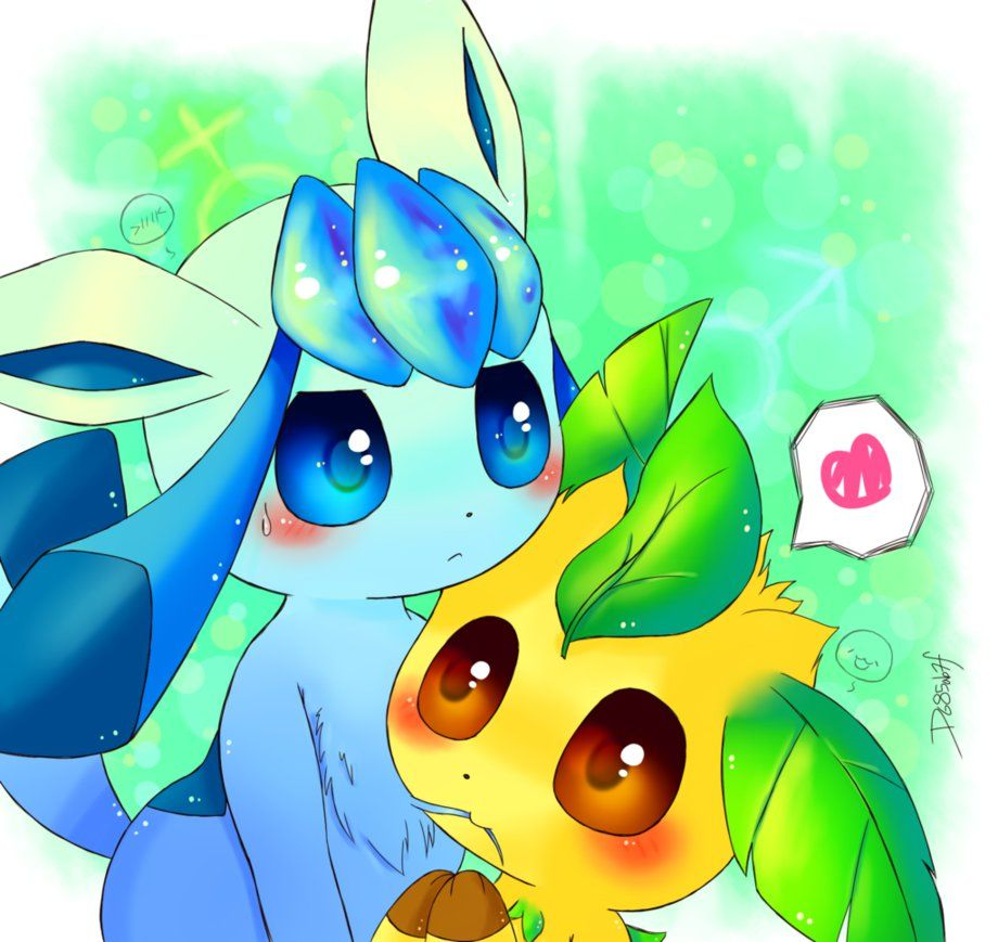 Request - Leafeon and Glaceon by D685ab7f-pis.deviantart.com on @DeviantArt