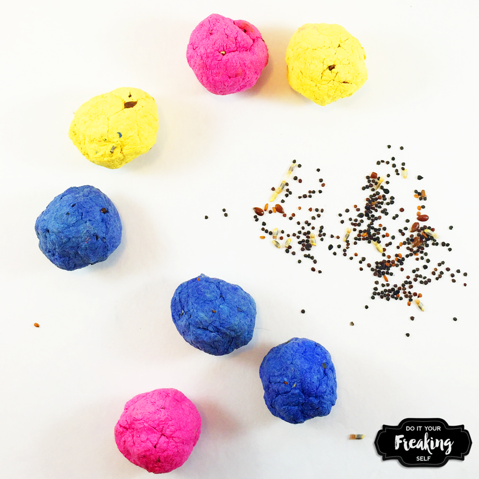 Quick and easy steps to make your own colorful seed bombs to throw ...