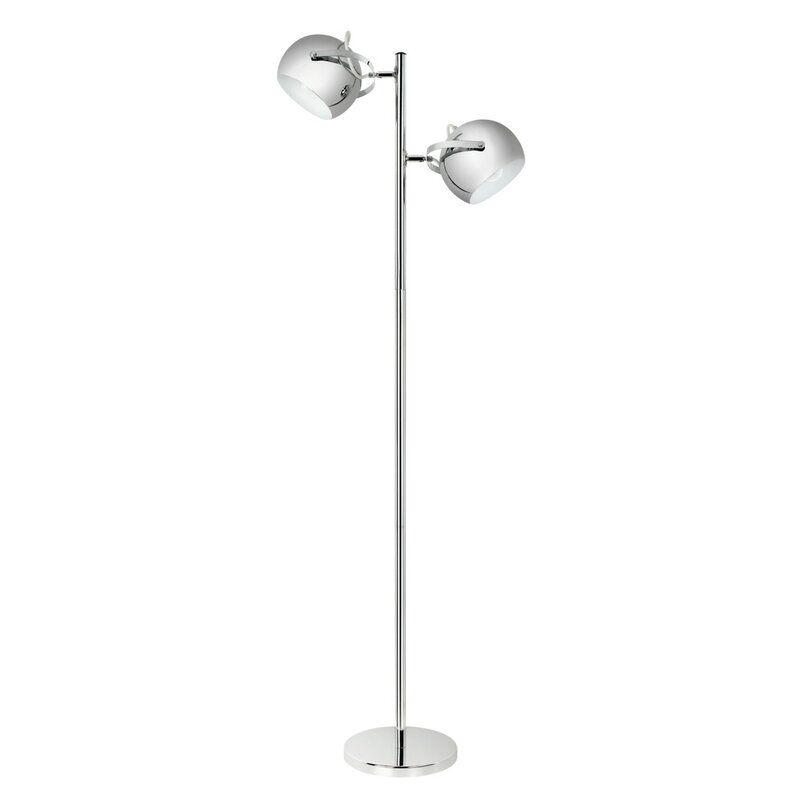 Orren Ellis Nell 61 Torchiere Floor Lamp Reviews Wayfair In 2020 Chrome Floor Lamps Torchiere Floor Lamp Floor Lamp