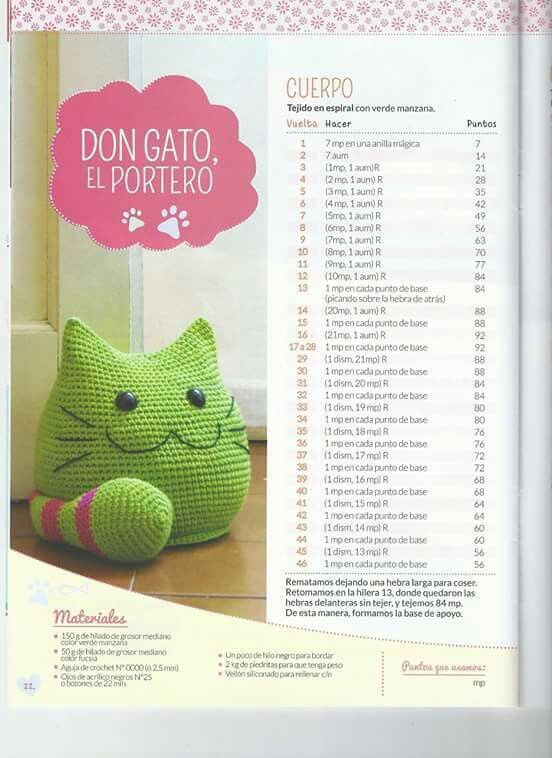 Don gato crochet cat pattern | FREE Amigurumi ♥ Crochet Patterns ...