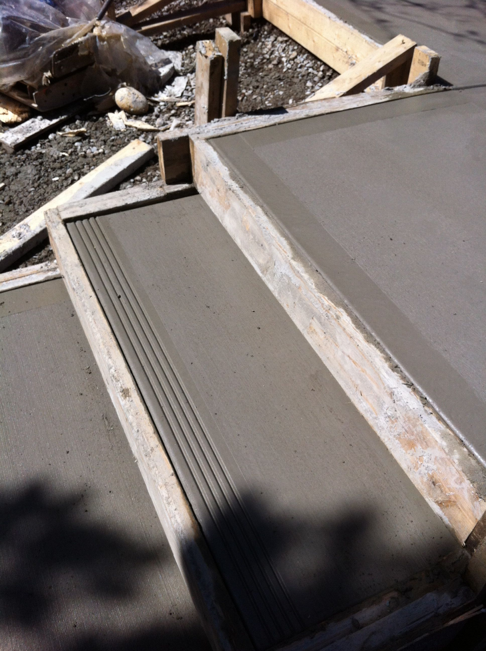 4 Steps To Success: Broom Finish Concrete Step With 4 Grooved Edge. By Dan