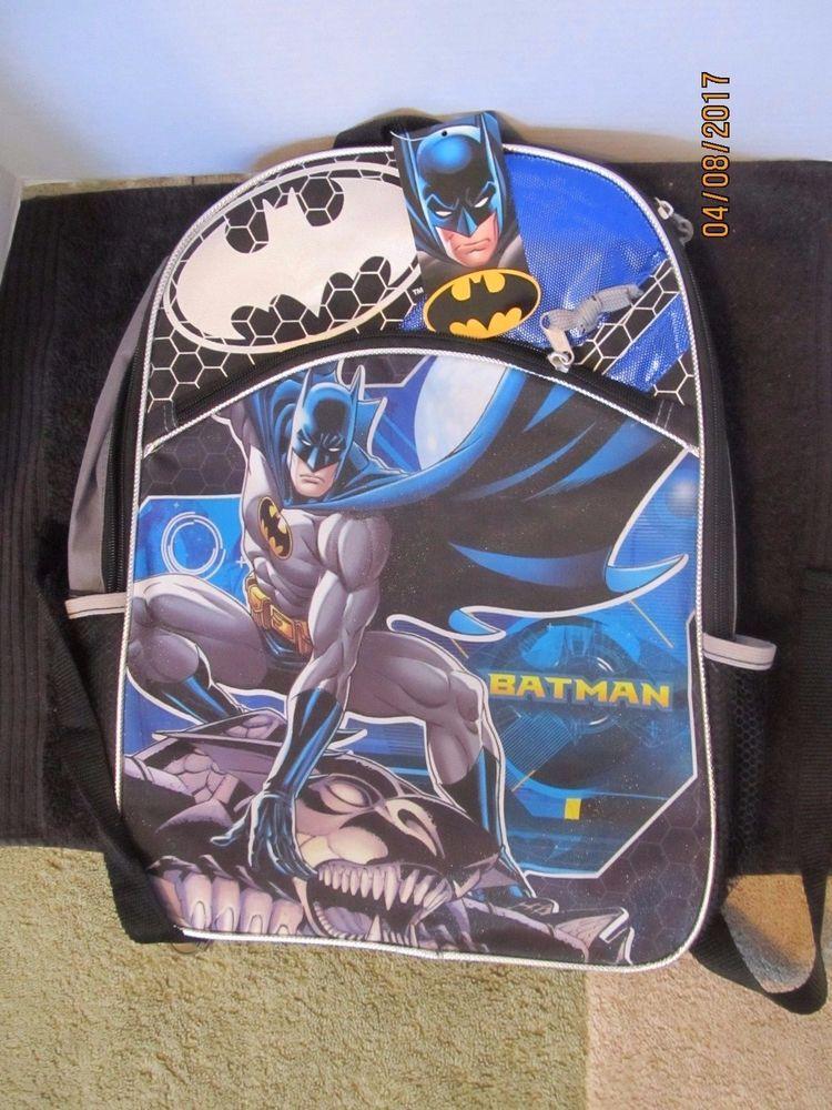 Batman school book bag w adjustable straps by fast