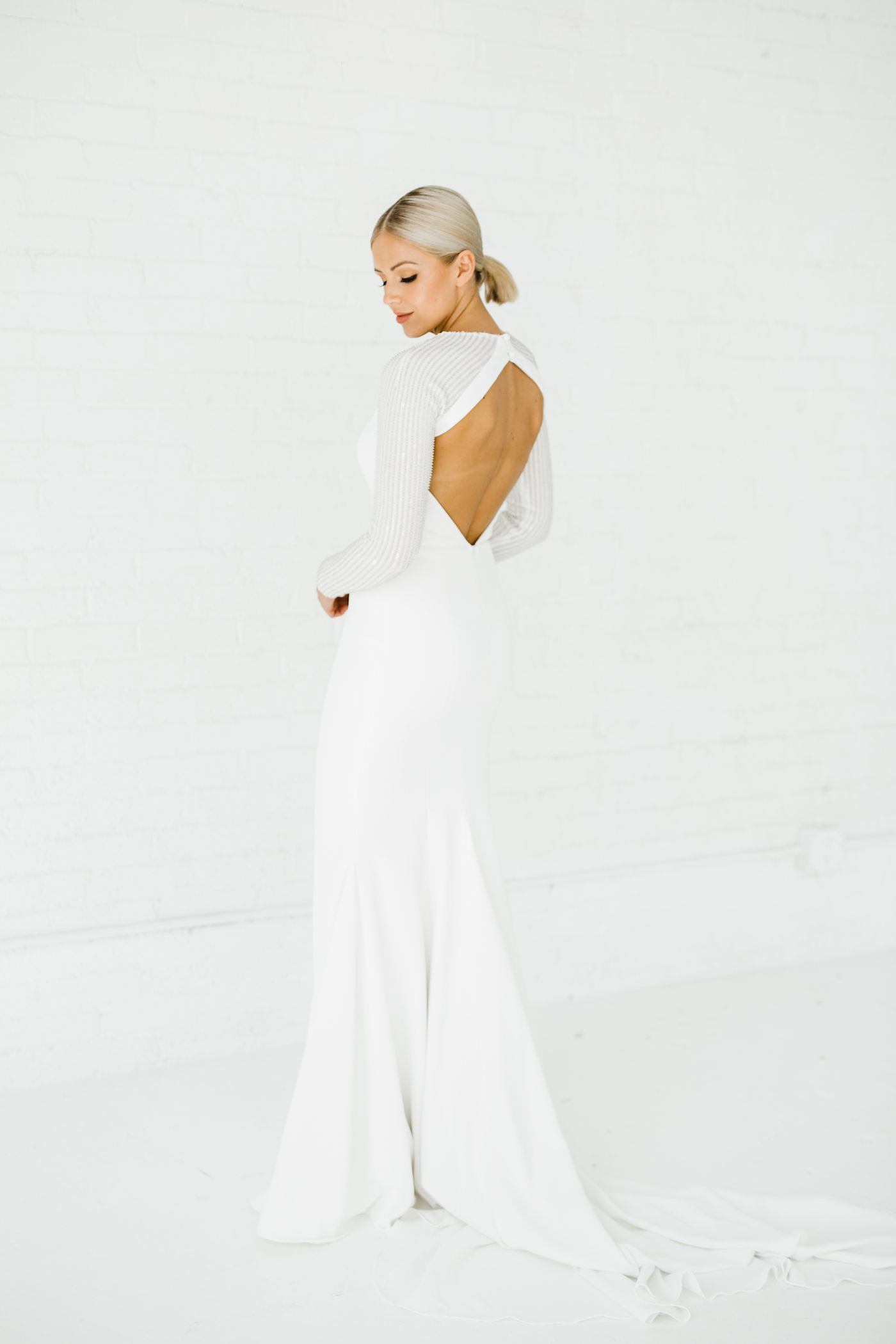Stella Long Sleeve Alyssa Kristin Chicago Wedding Dress