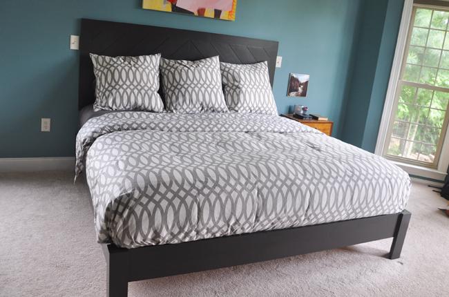 DIY Hotel Style Headboard & Platform Bed Diy bed frame