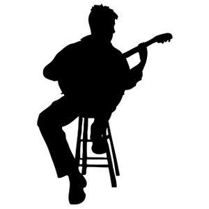 pix for u003e playing acoustic guitar clipart images music pinterest rh pinterest ca electric guitar silhouette clip art