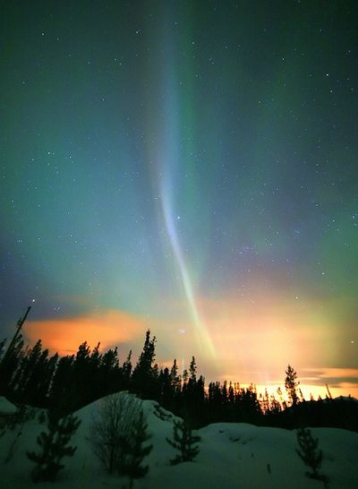 Filament by David Cartier Northern lights, Scenery