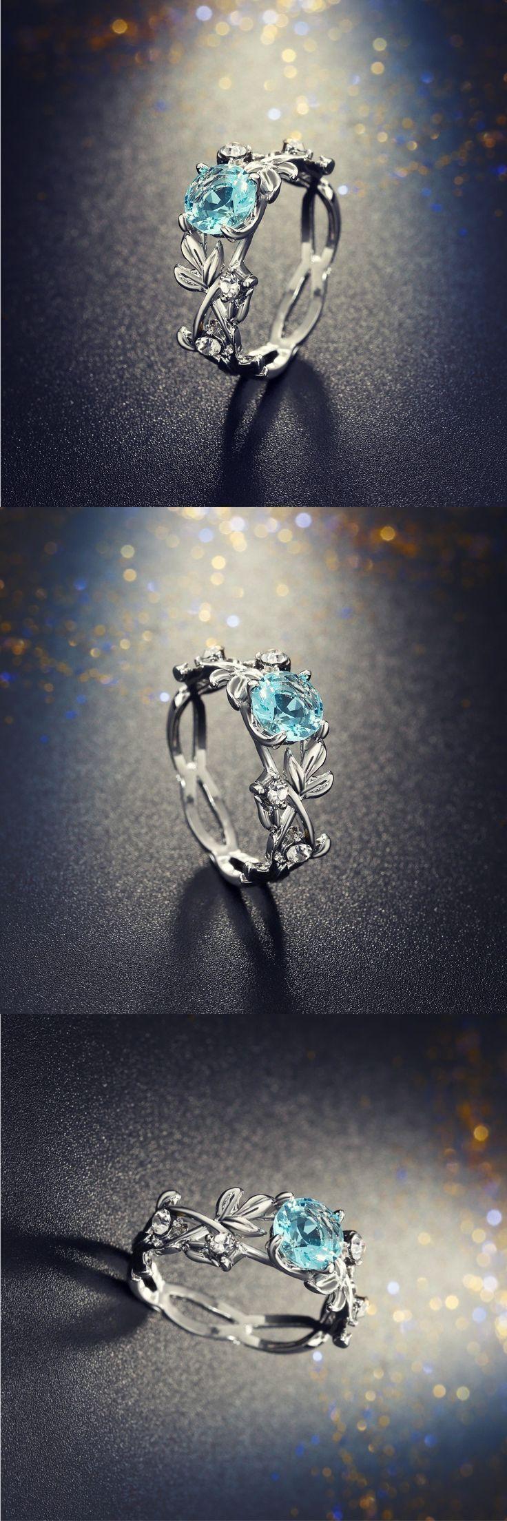 Crystal Leaf Verlobungsring –  Schöner Kristallblatt-Verlobungsring! #Schmuck #…