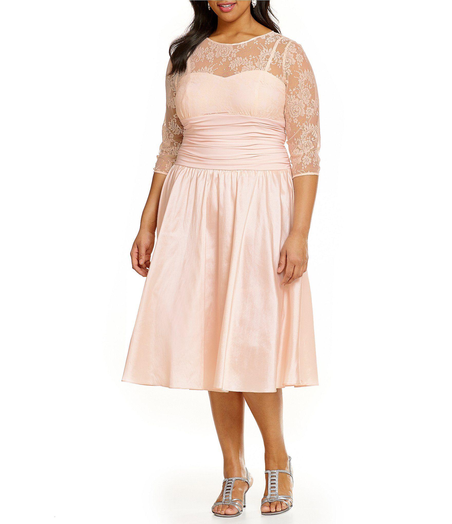 6cae62ae9f8 Shop for Jessica Howard Plus Illusion Taffeta Party Dress at Dillards.com.  Visit Dillards.com to find clothing