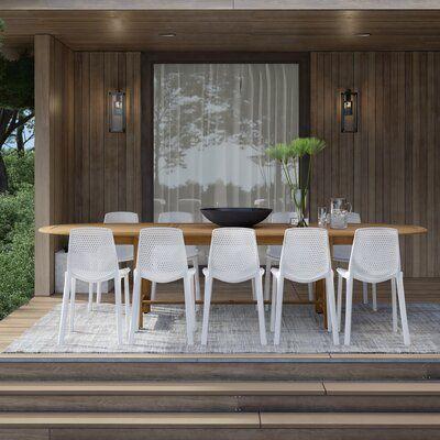 Mercury Row Claudio 11 Piece Teak Dining Set Wayfair In 2020 Patio Dining Set Dining Set Outdoor Dining Set
