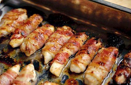 Pollo Envuelto En Tocineta Miel Y Mostaza Receta Recetas Deliciosas Pollo Envuelto Recetas Para Cocinar