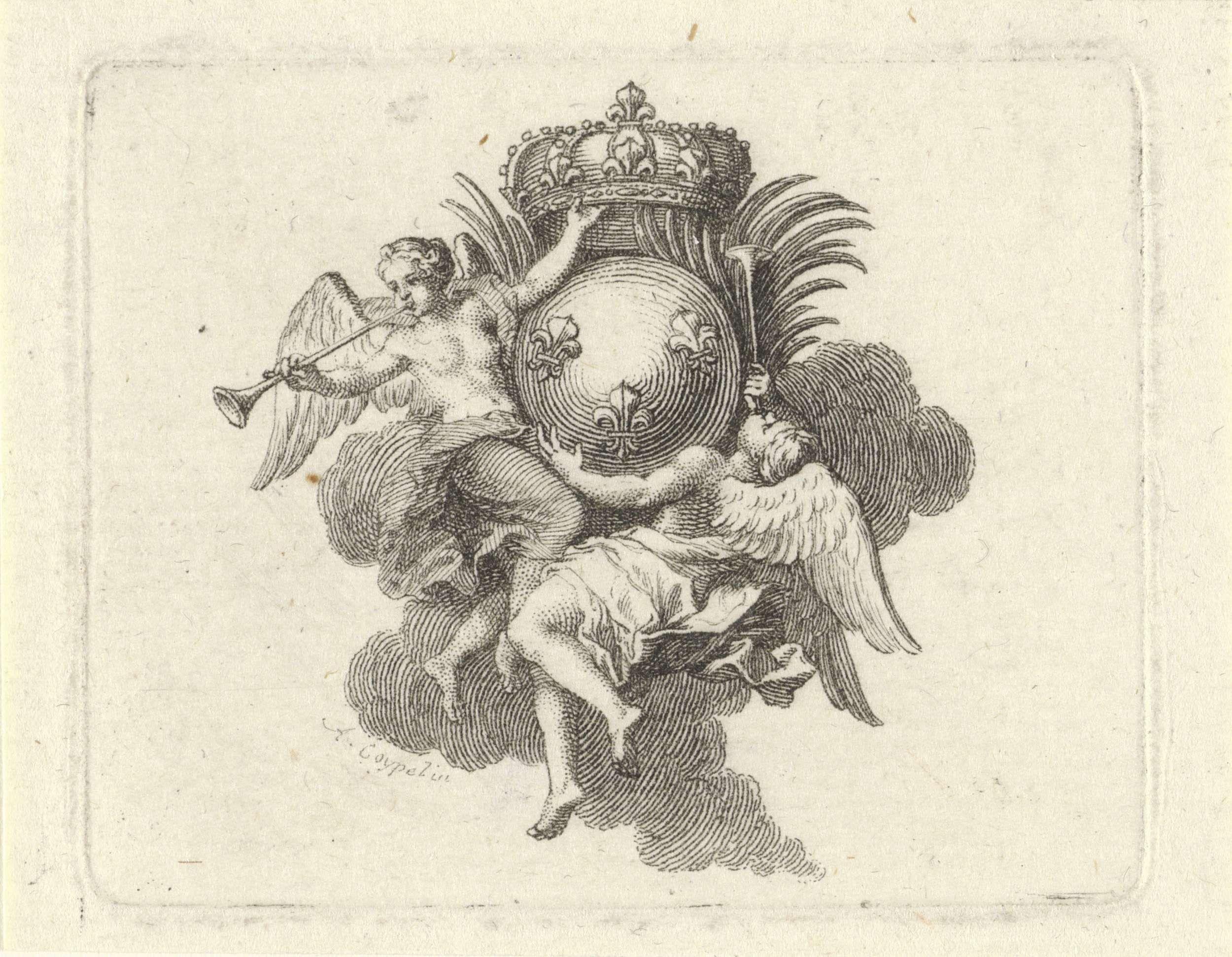 Anonymous | Faam met het Franse wapenschild, Anonymous, 1671 - 1772 |
