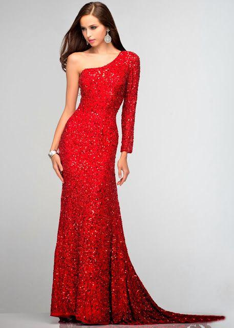 Vestidos de gala color rojo para mujer