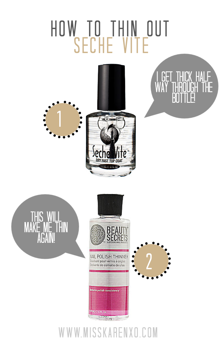 How to Thin Out Seche Vite Topcoat with beauty secrets nail polish ...