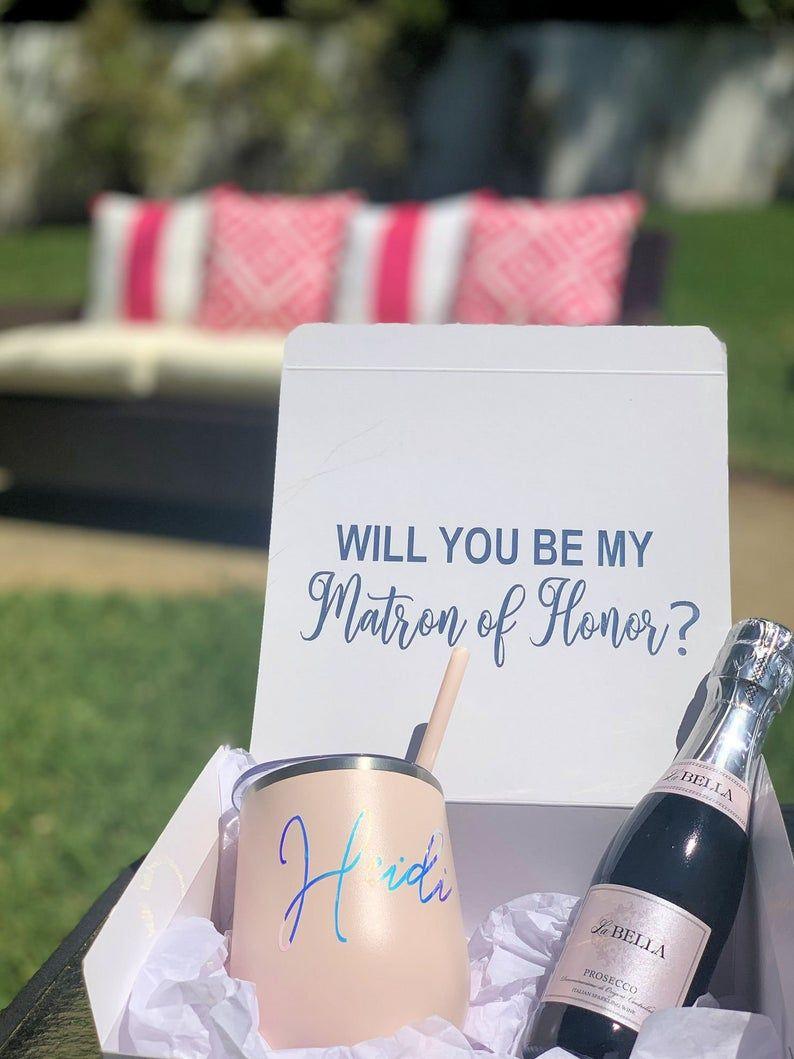 Maid of honor matron of honor proposal box bridesmaid gift
