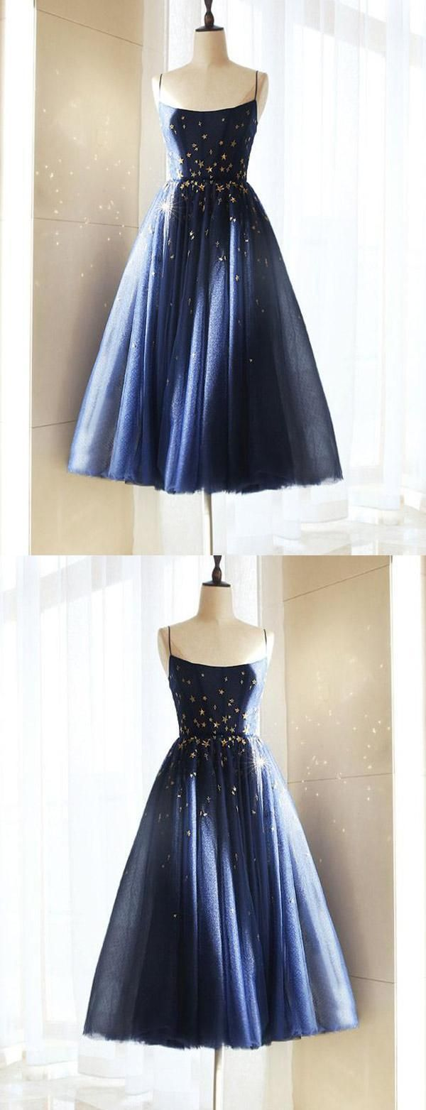 Homecoming dresses blue prom dresses short prom dresses aline