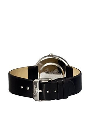 Crayo Women's CR0207 Button Black Leather Watch