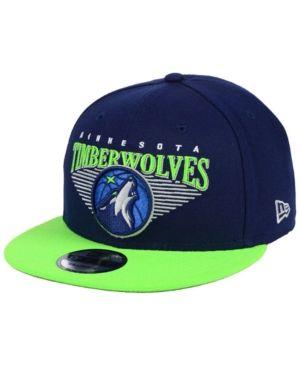 New Era Minnesota Timberwolves Retro Triangle 9FIFTY Snapback Cap - Blue  Adjustable 91150d30d44